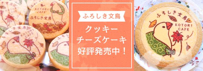 ふろしき文鳥クッキー・チーズケーキ好評発売中